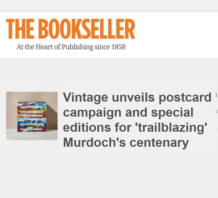 The Bookseller - Vintage unveils postcard campaign and special editions for 'trailblazing' Murdoch's centenary